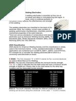 Standardization of Welding Electrodes
