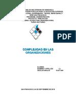 Unidad III Complejidad en Las Organizaciones