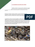 Como Se Manejan Los Residuos Solidos en El Peru