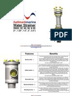 Strainer Information Sheet