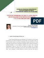 Vicente Ferreira Da Silva e Os Fundamentos Mitológicos Da Cultura Brasileira - Ricardo Vélez Rodríguez