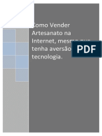 eBook Como Vender Artesanato Na Internet