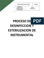 2. Proceso de Desinfeccion y Esterilizacion de Instrumental