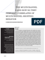 Who Are the Multichannel Shoppers and How Do They Perform Correlates of Multichannel Shopping Behavior