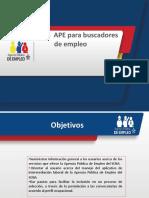 1 Taller Servicios Ape e Induccion Al Aplicativo Buscadores de Empleo