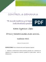 Control Semana 5 Etica y Responsabilidad Social