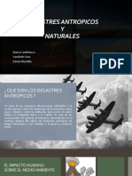 desastres antropicos y naturales