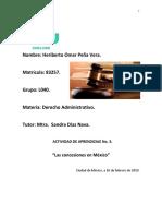 Actividad de Aprendizaje No. 3,Las Concesiones en Mexico,h. o. Peña V.