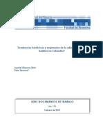 Tendencias Históricas y Regionales de La Adjudicación de Baldíos en Colombia. Villaveces y Sánchez.