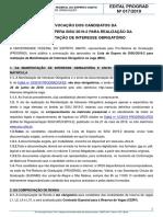 Edital Prograd No 17-2019 - Lista de Espera