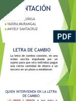 PRESENTACIÓN Letra de Cambio555555