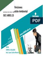 Términos y Definiciones SGA ISO 14001