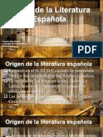 Origen de La Literatura Española