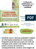 SAPPIL_2018 - O Discurso Publicitário e a Invenção Da Realidade Por Meio Do Discurso