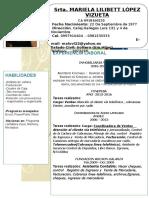 Curriculum Mariela 2016