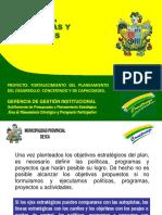 Políticas, Programas y Proyectos - Pdc Ica