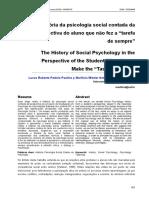 História Da Psicologia Social Contada Por Um Aluno