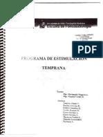 Programa de Estimulación Temprana