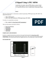 Creating a PWM Signal Using a PIC 16F84