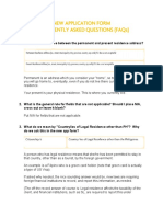 FAQs on the New Application Form