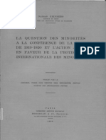 FEINBERG Nathan -1929- Minorités