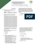 Evaluacion Bimestral Segundo Perido Undecimo Octavo Matematicas