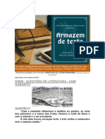 Questoes de Literatura Enem