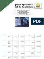 Informe Proyecto Misionero 19 ABRIL AL 19 de MAYO