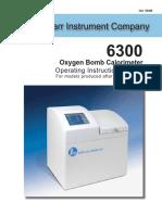 6300 Oxygen Bomb Calorimeter Manual