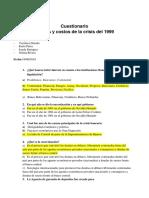 Causas Y Costos de La Crisis de 1999 Banco de Preguntas