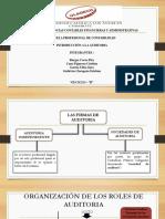 ..Las Firmas de Auditoria y Roles de Auditoria Interna y Externa