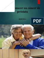 dar a conocer un cáncer de próstata