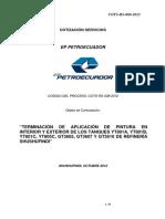 Apilacion Recubrimientos en Refineria Ecuador