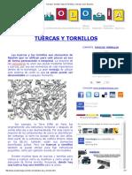 Tuercas y Tornillos Tipos de Tornillos y Tuercas, Usos, Elección.