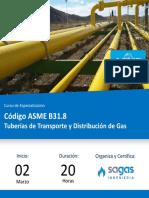 Codigo ASME de tuberias de gas