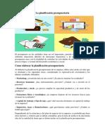 La Planificación Presupuestaria (1)