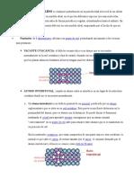 Defectos en Estructuras Cristalinas