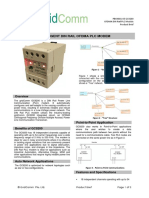 DIN Rail PLC Modem Product Brief