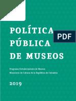 Para Revisión Politica Nacional de Museos 2019 Pfm Jb Jrt