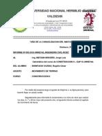 Informe de Construccion II- Movimiento de Tierras (Bonifacio Cuzqui, Rc)