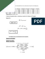 Cálculos Etanol Balanza Westphal