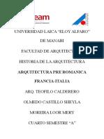 Arquitectura Pre Romanica Francia Italia