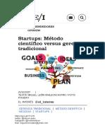 Startups Método científico versus gerencia tradicional
