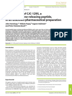 Identification of CJC-1295, a growth-hormone-releasing peptide, in an unknownpharmaceutical preparation - Henninge 2010