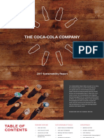 2017 Sustainability Report the Coca Cola Company