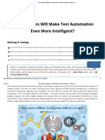 How Analytics Will Make Test Automation Even More Intelligent_ -ThinkSys Inc