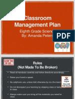 classroom management plan  ppt