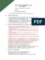 Intellectual Property Law Syllabus Final