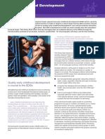 Early Childhood Development in the SDGs