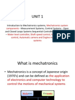 Mechatronics Unit 1 Ppt